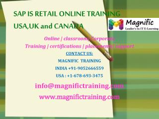 sap is Retail online training USA,UK and Canada