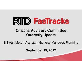 The RTD FasTracks Plan