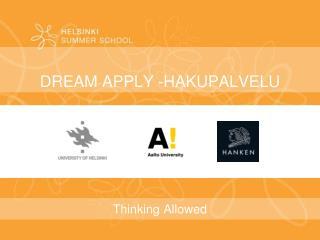DREAM APPLY -HAKUPALVELU