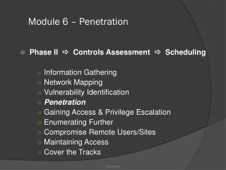 Module 6 – Penetration