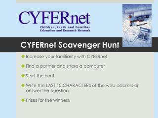 CYFERnet Scavenger Hunt
