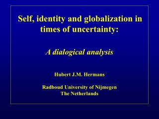Self, identity and globalization in times. . .