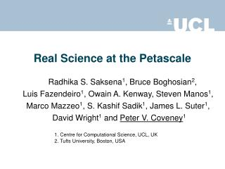 Real Science at the Petascale