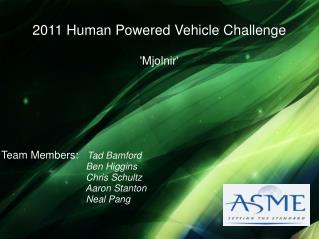 2011 Human Powered Vehicle Challenge 'Mjolnir'