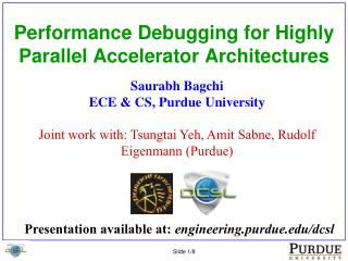 Performance Debugging for Highly Parallel Accelerator Architectures