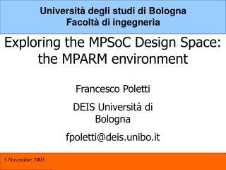 Università degli studi di Bologna Facoltà di ingegneria
