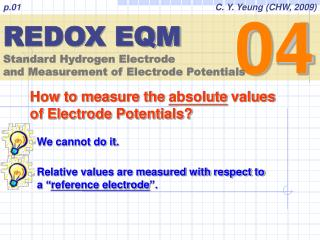 REDOX EQM Standard Hydrogen Electrode and Measurement of Electrode Potentials