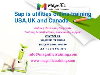 Sap is utilities online training USA,UK and Canada
