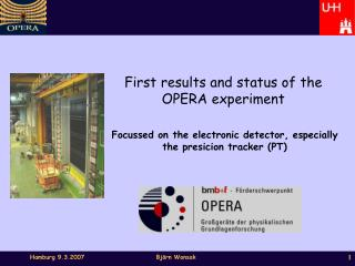 First results and status of the OPERA experiment