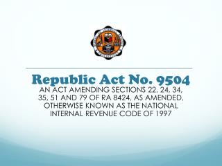 Republic Act No. 9504