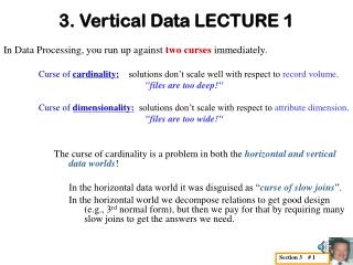 3. Vertical Data LECTURE 1