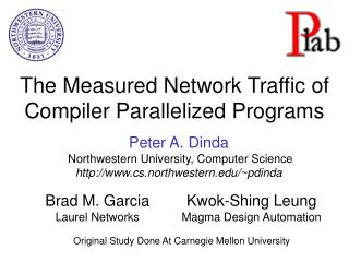 The Measured Network Traffic of Compiler Parallelized Programs