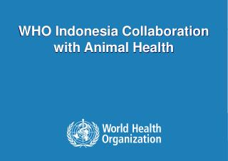 WHO Indonesia Collaboration with Animal Health