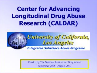 Center for Advancing Longitudinal Drug Abuse Research (CALDAR)