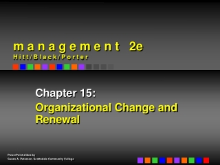 The Process of Organizational Change