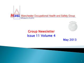 Group Newsletter Issue 11 Volume 4 May 2013