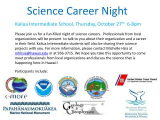 Science Career Night