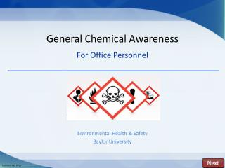 General Chemical Awareness For Office Personnel