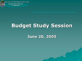Budget Study Session June 20, 2005