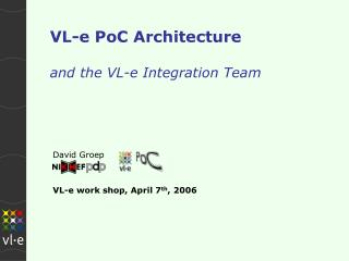 VL-e PoC Architecture and the VL-e Integration Team