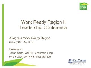 Work Ready Region II Leadership Conference