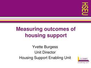 Measuring outcomes of housing support