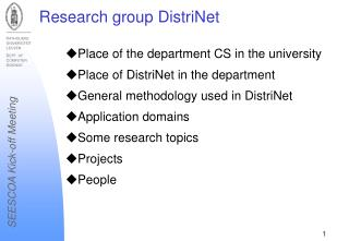 Research group DistriNet