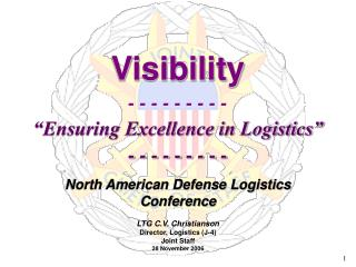 "Visibility - - - - - - - - - ""Ensuring Excellence in Logistics"" - - - - - - - - -"