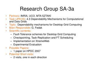 Research Group SA-3a