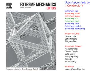 Submission starts on 1 October 2014 Extremely fast Extremely small Extremely large Extremely soft