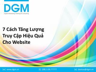 7 cách tăng lượng truy cập hiệu quả cho website