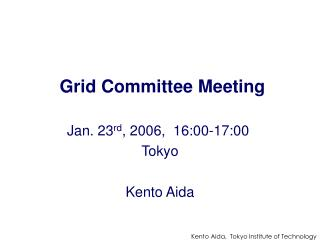 Grid Committee Meeting