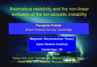 Anomalous resistivity and the non-linear evolution of the ion-acoustic instability