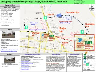 Emergency Evacuation Map—Bajia Village, Guiren District, Tainan City