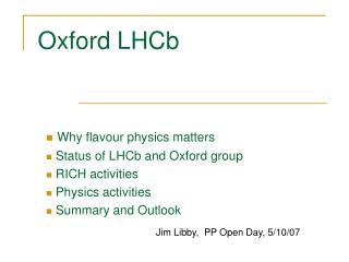 Oxford LHCb