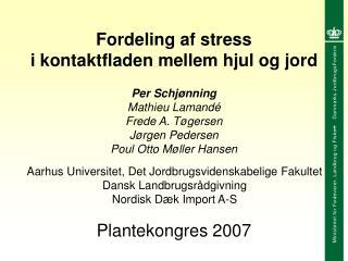 Fordeling af stress i kontaktfladen mellem hjul og jord