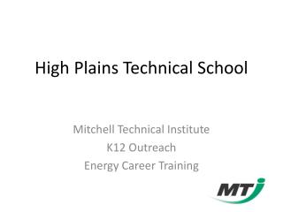 High Plains Technical School