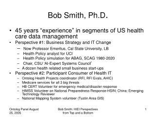 Bob Smith, Ph.D .