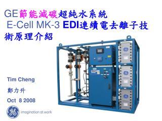 GE 節能減碳 超純水系統 E-Cell  MK-3  EDI 連續電去離子技術原理介紹