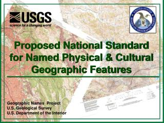 Geographic Names  Project U.S. Geological Survey U.S. Department of the Interior