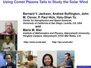 Bernard V. Jackson, Andrew Buffington, John M. Clover, P. Paul Hick, Hsiu-Shan Yu