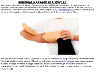 Massage Healesville