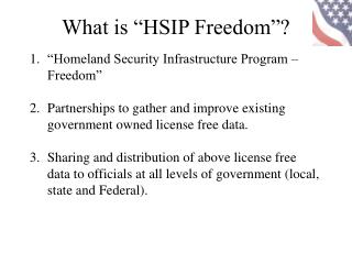 """Homeland Security Infrastructure Program – Freedom"""