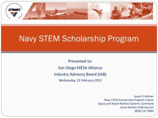 Navy STEM Scholarship Program