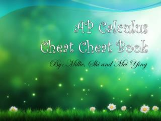 AP Calculus Cheat Cheat Book