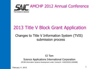 AMCHP 2012 Annual Conference