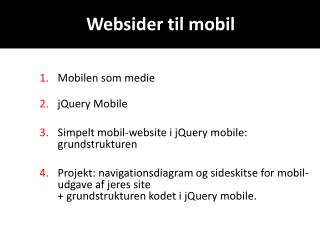 Websider til mobil