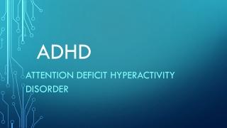 ADD  ADHD