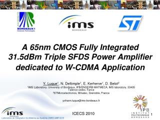 A 65nm CMOS Fully Integrated 31.5dBm Triple SFDS Power Amplifier dedicated to W‑CDMA Application