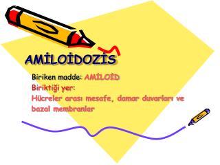 AMİLOİDOZİS
